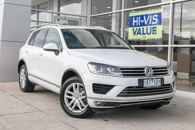 Used Volkswagen Touareg 7P MY16 150TDI Tiptronic 4MOTION Element, 2016 Volkswagen Touareg 7P MY16 150TDI Tiptronic 4MOTION Element White 8 Speed Sports Automatic
