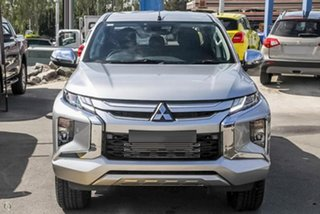 2019 Mitsubishi Triton MR MY19 GLS Double Cab Silver 6 Speed Sports Automatic Utility.