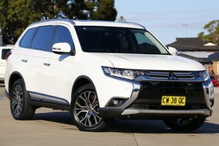2016 Mitsubishi Outlander ZK MY17 Exceed (4x4) White Continuous Variable Wagon.