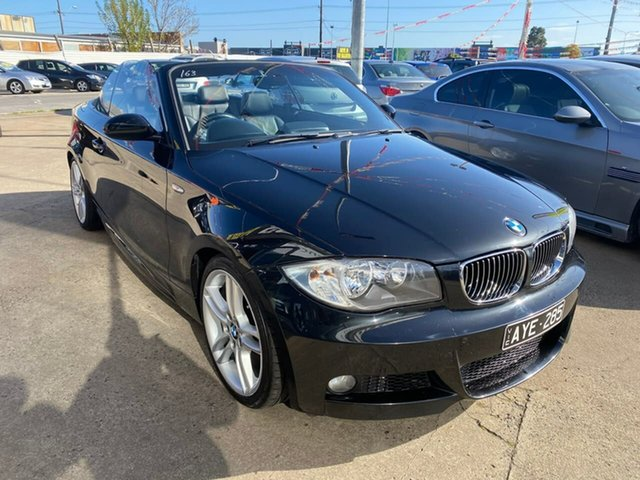 Used BMW 125i E88 MY09 125i, 2009 BMW 125i E88 MY09 125i Black 6 Speed Automatic Convertible