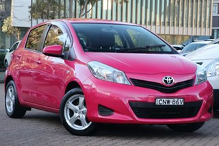 2014 Toyota Yaris NCP130R YR Pink 4 Speed Automatic Hatchback.