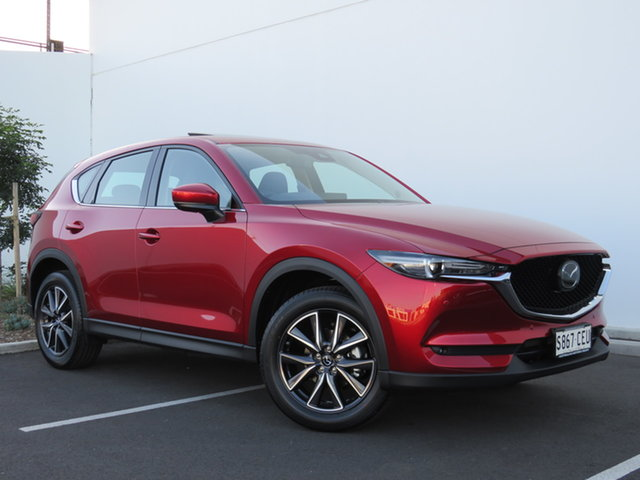 Demo Mazda CX-5 KF4WLA GT SKYACTIV-Drive i-ACTIV AWD, 2020 Mazda CX-5 KF4WLA GT SKYACTIV-Drive i-ACTIV AWD Soul Red Crystal 6 Speed Sports Automatic Wagon