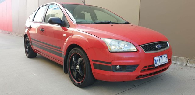 Used Ford Focus LS CL, 2006 Ford Focus LS CL Red 5 Speed Manual Hatchback