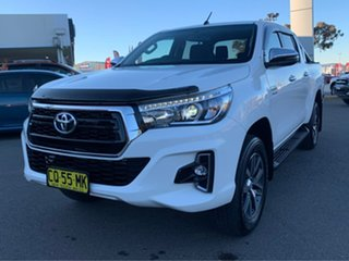 2018 Toyota Hilux SR5 White Sports Automatic Dual Cab Utility.