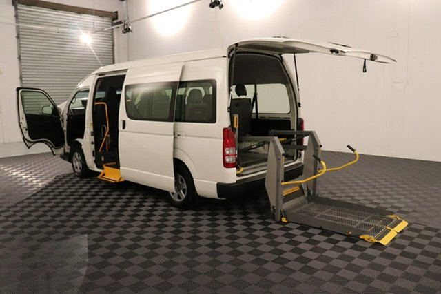 Used Toyota HiAce KDH223R MY12 Commuter High Roof Super LWB, 2012 Toyota HiAce KDH223R MY12 Commuter High Roof Super LWB French Vanilla 4 speed Automatic Bus