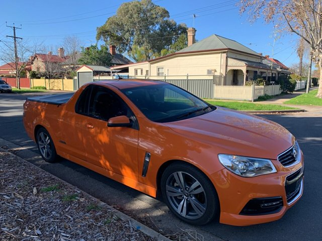 Used Holden Ute VF MY14 SS Ute, 2014 Holden Ute VF MY14 SS Ute Orange 6 Speed Sports Automatic Utility