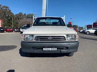 2000 Toyota Hilux Workmate White Manual Cab Chassis - Single Cab.