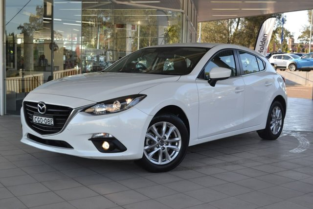 Used Mazda 3 BM5478 Touring SKYACTIV-Drive, 2015 Mazda 3 BM5478 Touring SKYACTIV-Drive White 6 Speed Sports Automatic Hatchback