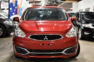 2018 Mitsubishi Mirage LA MY19 ES Plum Red 1 Speed Constant Variable Hatchback.