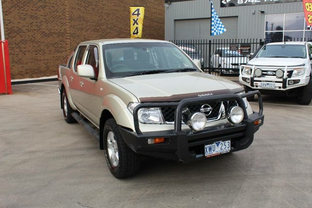 Used Nissan Navara D40 ST (4x4), 2010 Nissan Navara D40 ST (4x4) Gold 6 Speed Manual Dual Cab Pick-up