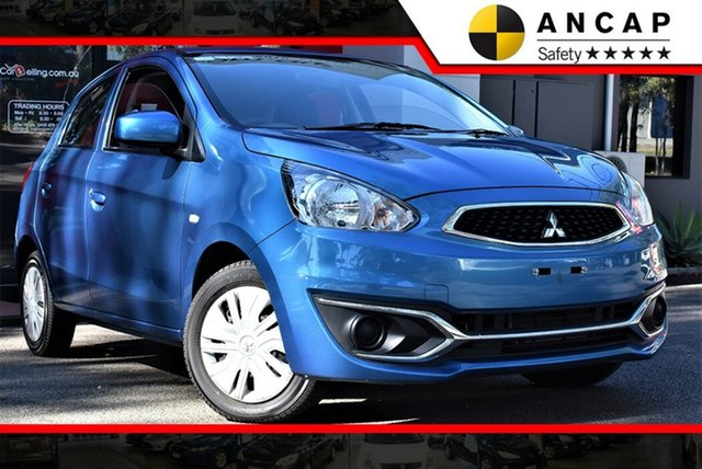 Used Mitsubishi Mirage LA MY19 ES, 2018 Mitsubishi Mirage LA MY19 ES Dynamic Blue 1 Speed Constant Variable Hatchback