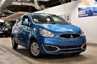2018 Mitsubishi Mirage LA MY19 ES Dynamic Blue 1 Speed Constant Variable Hatchback.