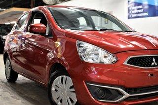 2018 Mitsubishi Mirage LA MY19 ES Plum Red 1 Speed Constant Variable Hatchback