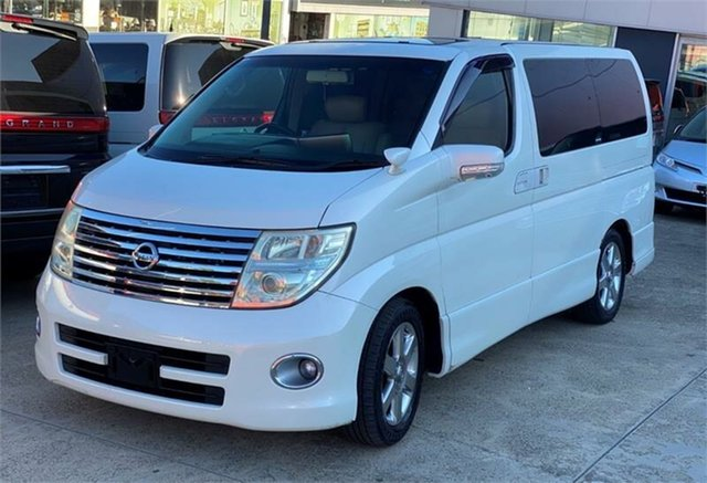 Used Nissan Elgrand E51 Highway Star Silverwater, 2007 Nissan Elgrand E51 Highway Star White Automatic Wagon