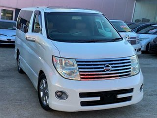 2007 Nissan Elgrand E51 Highway Star White Automatic Wagon.
