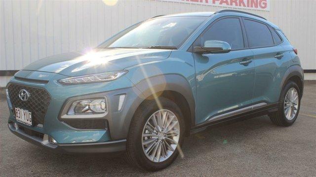 Used Hyundai Kona OS.2 MY19 Elite 2WD, 2018 Hyundai Kona OS.2 MY19 Elite 2WD Blue 6 Speed Sports Automatic Wagon