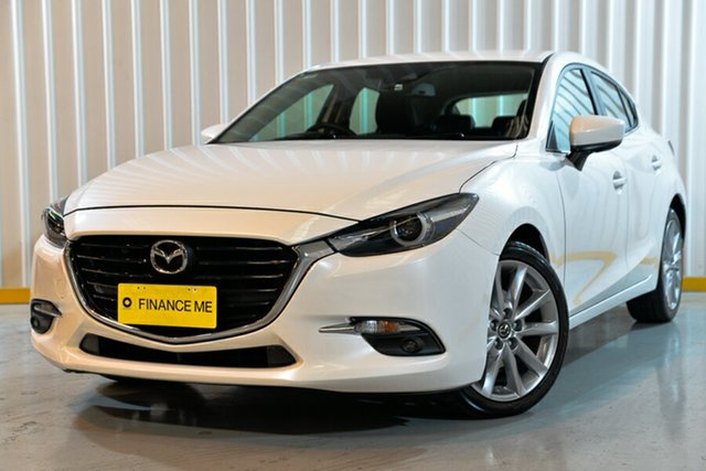 Used Mazda 3 BN5438 SP25 SKYACTIV-Drive GT, 2016 Mazda 3 BN5438 SP25 SKYACTIV-Drive GT White 6 Speed Sports Automatic Hatchback