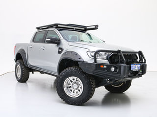 2016 Ford Ranger PX MkII MY17 XLT 3.2 (4x4) Silver 6 Speed Automatic Dual Cab Utility.