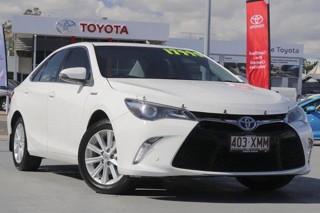 Used Toyota Camry AVV50R Atara S, 2016 Toyota Camry AVV50R Atara S Diamond White 1 Speed Sedan Hybrid