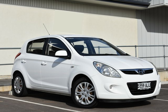 Used Hyundai i20 PB Active, 2010 Hyundai i20 PB Active White 5 Speed Manual Hatchback