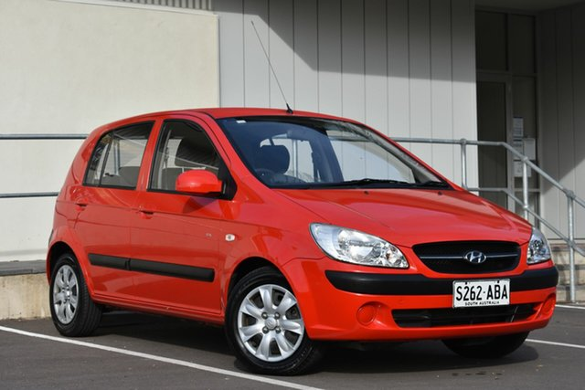 Used Hyundai Getz TB MY07 S, 2008 Hyundai Getz TB MY07 S Red 4 Speed Automatic Hatchback
