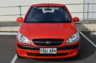 2008 Hyundai Getz TB MY07 S Red 4 Speed Automatic Hatchback
