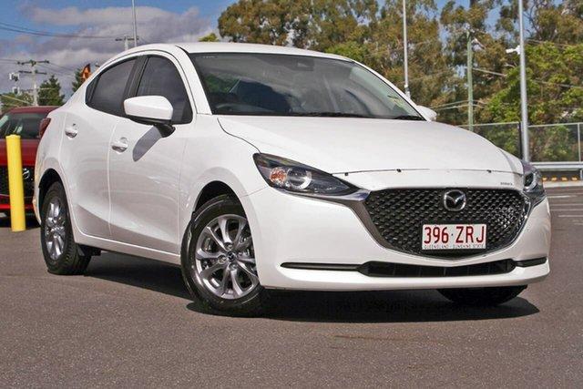Demo Mazda 2 DL2SAA G15 SKYACTIV-Drive Pure, 2020 Mazda 2 DL2SAA G15 SKYACTIV-Drive Pure Snowflake White Pearl 6 Speed Sports Automatic Sedan