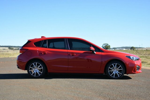 Used Subaru Impreza MY18 2.0I Premium (AWD) Kingaroy, 2018 Subaru Impreza MY18 2.0I Premium (AWD) Pure Red Continuous Variable Hatchback
