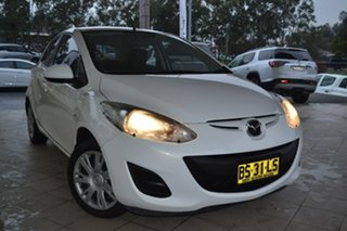 2012 Mazda 2 DE10Y2 MY13 Neo White 4 Speed Automatic Hatchback.