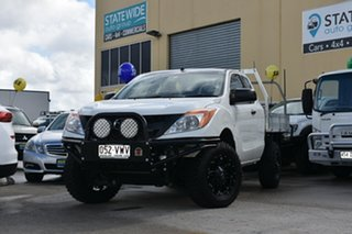 2015 Mazda BT-50 MY16 XT (4x4) White 6 Speed Manual Freestyle Cab Chassis.