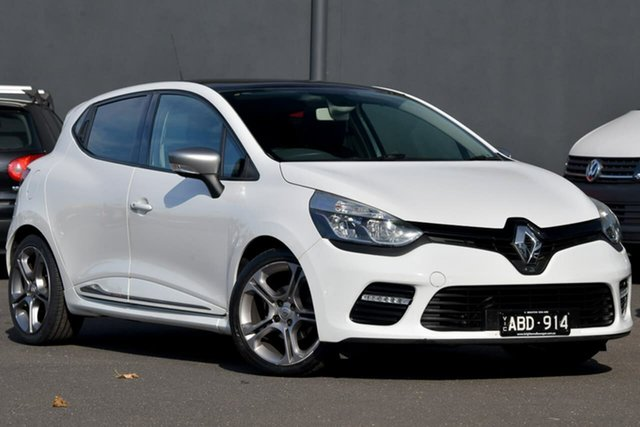 Used Renault Clio IV B98 GT EDC, 2015 Renault Clio IV B98 GT EDC White 6 Speed Sports Automatic Dual Clutch Hatchback