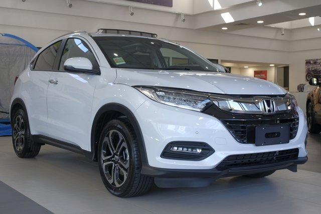 New Honda HR-V MY21 VTi-LX Newstead, 2020 Honda HR-V MY21 VTi-LX Platinum White 1 Speed Constant Variable Hatchback
