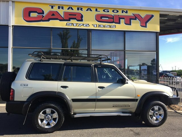 Used Nissan Patrol GU II ST (4x4), 2001 Nissan Patrol GU II ST (4x4) Gold 5 Speed Manual 4x4 Wagon