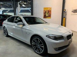 2010 BMW 5 Series F10 520d Steptronic White 8 Speed Sports Automatic Sedan