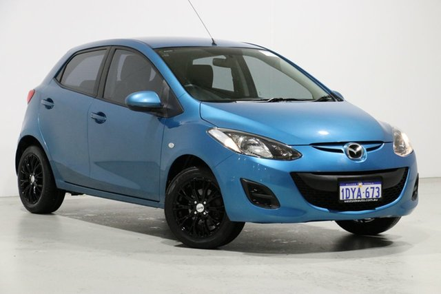 Demo Mazda 2 DE MY12 Neo, 2012 Mazda 2 DE MY12 Neo Blue 5 Speed Manual Hatchback