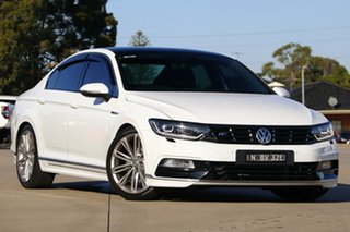 2016 Volkswagen Passat 3C MY17 206 TSI R-Line White 6 Speed Direct Shift Sedan.