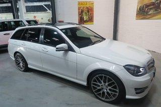 2014 Mercedes-Benz C-Class W204 MY14 C200 Estate 7G-Tronic + Avantgarde White 7 Speed.