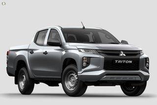 2019 Mitsubishi Triton MR MY19 GLX Double Cab Silver 6 Speed Manual Utility.