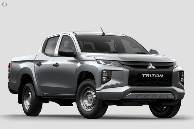 Demo Mitsubishi Triton MR MY19 GLX Double Cab, 2019 Mitsubishi Triton MR MY19 GLX Double Cab Silver 6 Speed Manual Utility