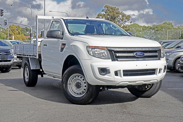 Used Ford Ranger PX XL 4x2 Hi-Rider, 2013 Ford Ranger PX XL 4x2 Hi-Rider White 6 Speed Sports Automatic Cab Chassis