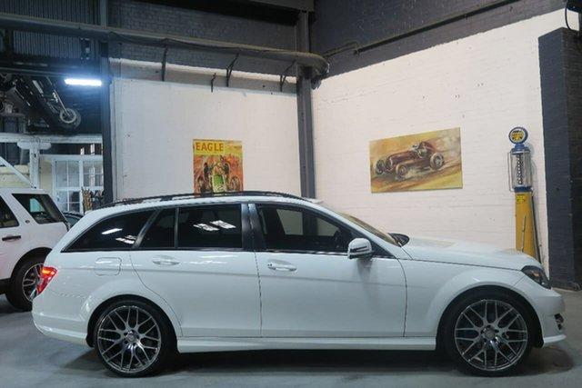 Used Mercedes-Benz C-Class W204 MY14 C200 Estate 7G-Tronic + Avantgarde, 2014 Mercedes-Benz C-Class W204 MY14 C200 Estate 7G-Tronic + Avantgarde White 7 Speed