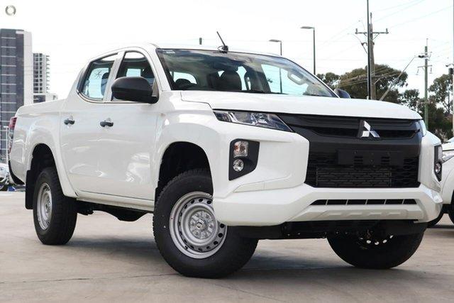 Demo Mitsubishi Triton MR MY19 GLX Double Cab ADAS, 2019 Mitsubishi Triton MR MY19 GLX Double Cab ADAS White 6 Speed Manual Utility