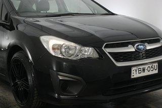 2013 Subaru Impreza G4 MY13 2.0i AWD Black 6 Speed Manual Hatchback.