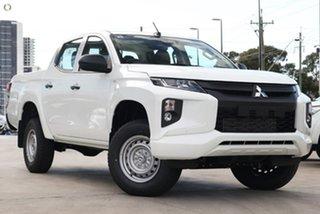 2018 Mitsubishi Triton MR MY19 GLX Double Cab ADAS White 6 Speed Sports Automatic Utility.