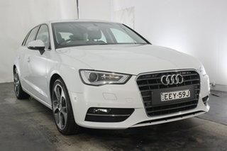 2015 Audi A3 8V MY15 Ambition Sportback S Tronic Glacier White 7 Speed Sports Automatic Dual Clutch.