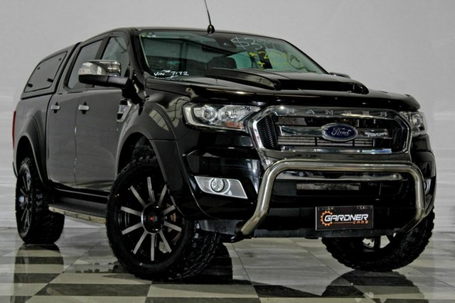 Used Ford Ranger PX MkII MY17 XLT 3.2 (4x4), 2016 Ford Ranger PX MkII MY17 XLT 3.2 (4x4) Black 6 Speed Automatic Dual Cab Utility