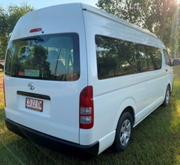 2014 Toyota HiAce KDH223R MY14 Commuter High Roof Super LWB White 5 Speed Manual Bus.