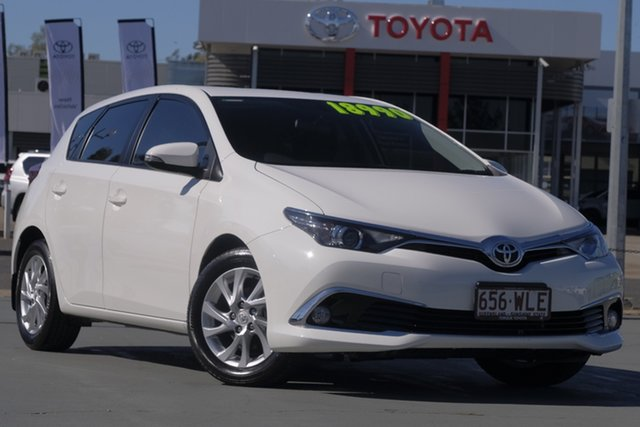Used Toyota Corolla ZRE182R Ascent Sport S-CVT, 2016 Toyota Corolla ZRE182R Ascent Sport S-CVT Glacier White 7 Speed Constant Variable Hatchback