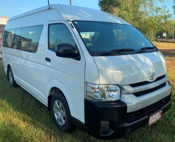 Used Toyota HiAce KDH223R MY14 Commuter High Roof Super LWB, 2014 Toyota HiAce KDH223R MY14 Commuter High Roof Super LWB White 5 Speed Manual Bus