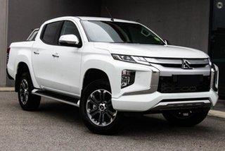 2019 Mitsubishi Triton MR MY19 GLS Double Cab White 6 Speed Manual Utility.